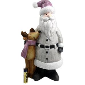 Santa & reindeer - mauve