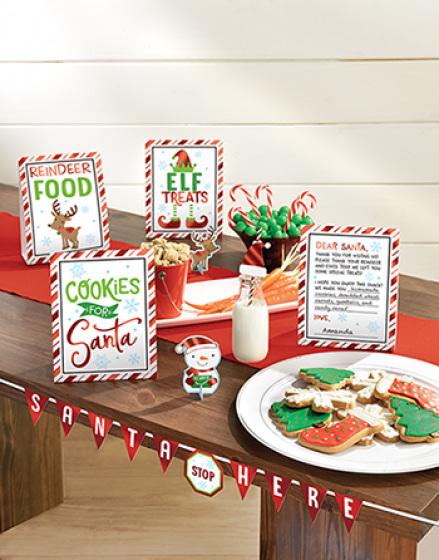 Santa stop here  mini snack decorating kit