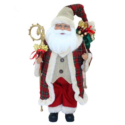 Santa - tartan jacket - 45cm