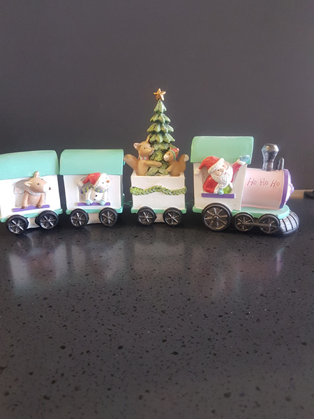 Santa train - ceramic