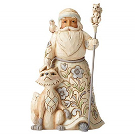 Santa with fox Jim Shore
