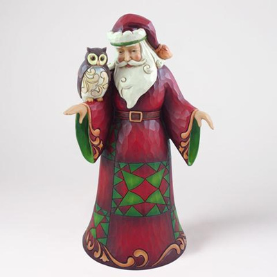 Santa with owl - Jim Shore