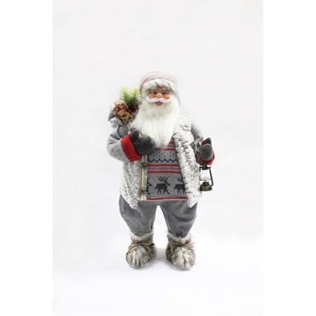 Santa with reindeer jersey - 80 cm high!