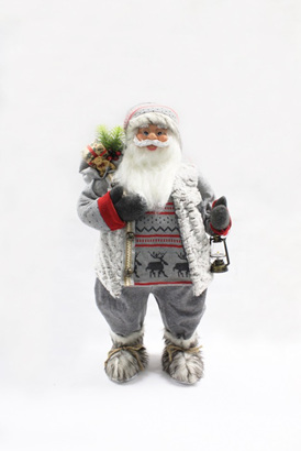 Santa with reindeer jersey - 80 cm high!