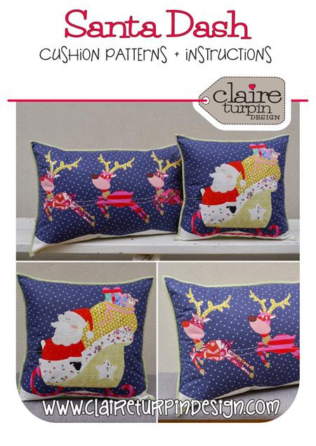 Santa's Dash Cushion Pattern