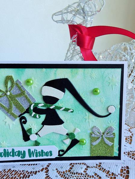 Santa's Helper Holiday Wishes Card