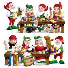 Santa's Workshop Elf Props