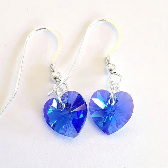 Sapphire AB earrings