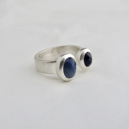 Sapphire Duo Ring