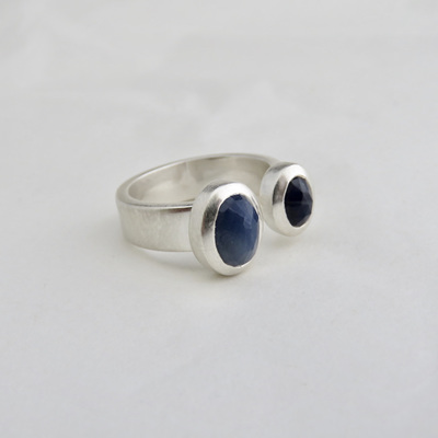 Sapphire Duo Ring