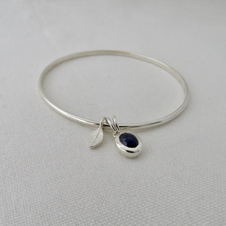 Sapphire Pebble Bangle