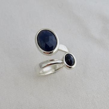 Sapphire Twist Ring