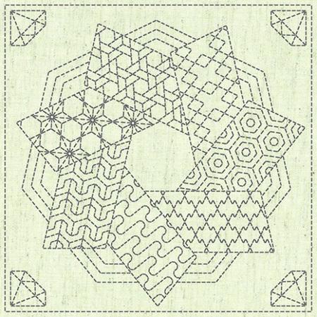 Sashiko Cloth Kaza-Guruma 4