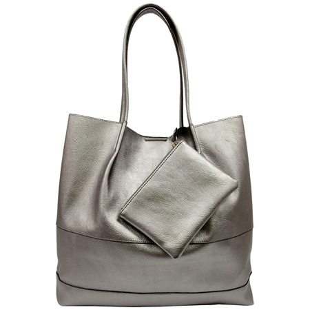 SASSY DUCK ROXY TOTE IN PEWTER
