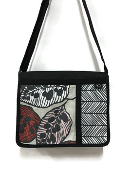 Satchel with leaf fabric - a great everyday bag made in NZ