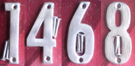 Satin Chrome or Brass Numbers/Letters