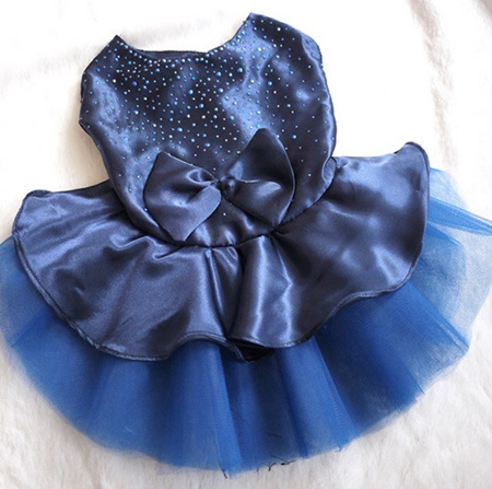 Satin Diamante - Sapphire