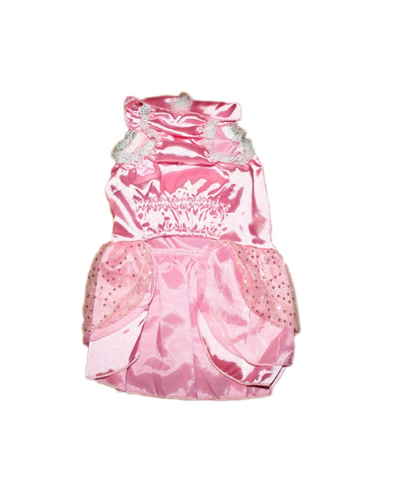 Satin layered pink dress