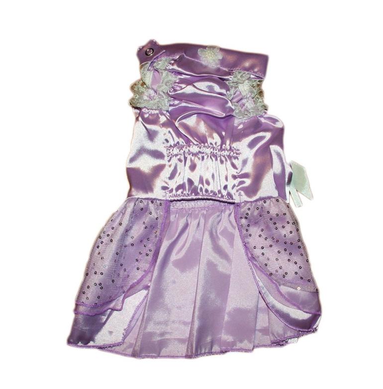 Satin layered purple dress