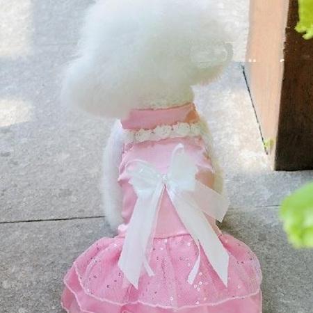 Satin wedding dress -  Pink
