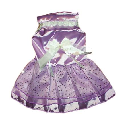 Satin wedding dress - Purple