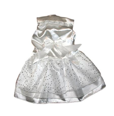 Satin Wedding Dress - white