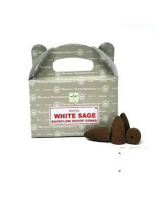Satya White Sage Backflow Cone