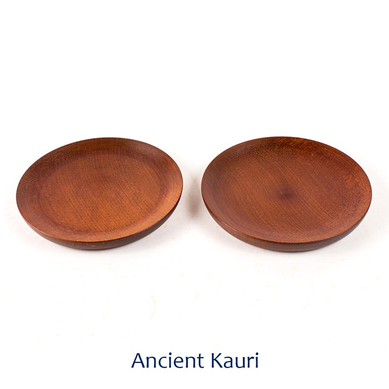 saucer set of 2 - ancient kauri - made in nz