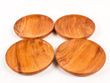 saucer set of 4 rimu made in nz