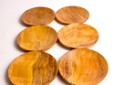 saucer set of 5 - rimu - made in nz
