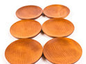 saucer set of 6 - ancient kauri - made in nz