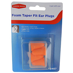 S/B 2 PR FOAM EAR PLUGS BELL SHP 2PK