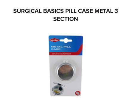 SB Pill Box Metal 3 Sections