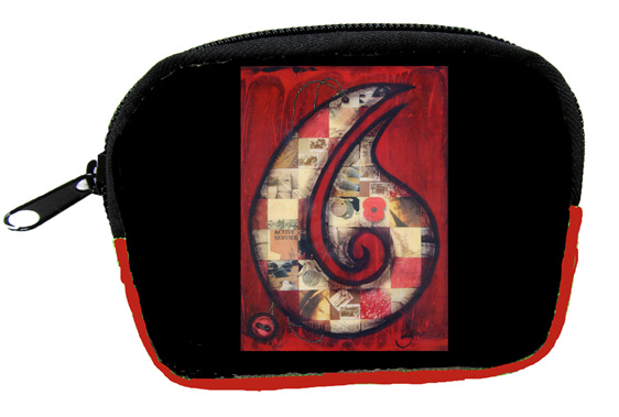 SB503 Coin Purse Red Hei Matau