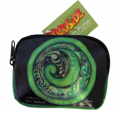 SB703 Coin Purse Green koru