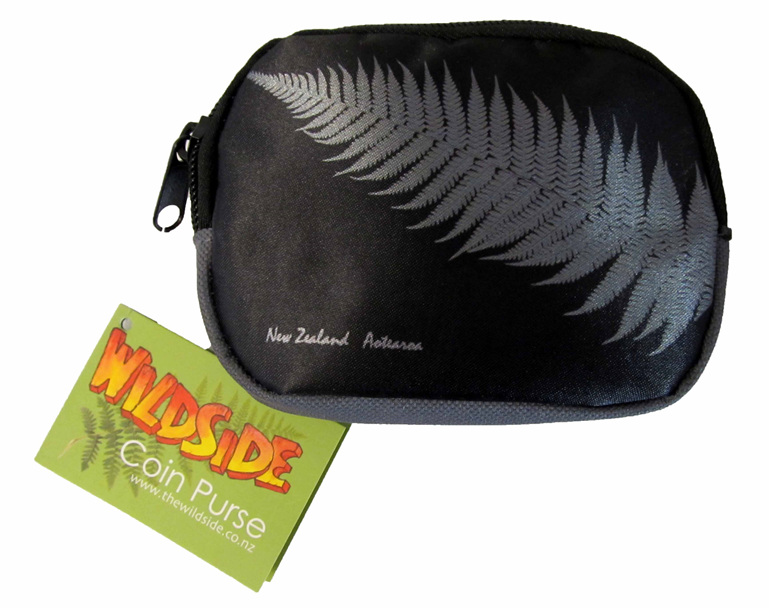 SB803 Coin Purse Silver fern