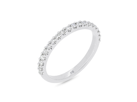 Scallop Set Delicate Diamond Wedding Band