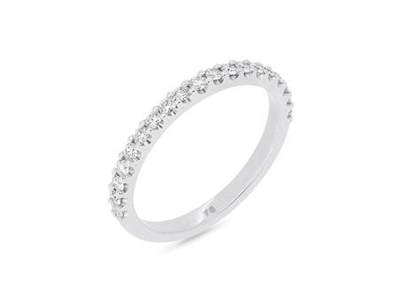 Scallop Set Delicate Diamond Wedding Band