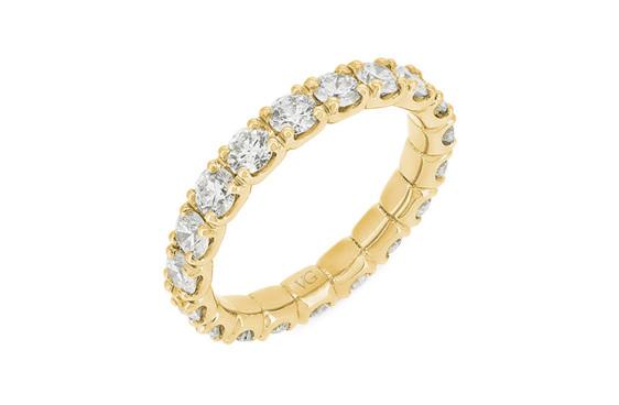 Scallop Set Full Diamond Eternity Ring