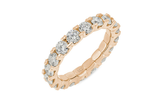 Scallop Set Full Diamond Eternity Ring