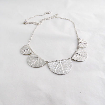 Scalloped Leaf Necklace