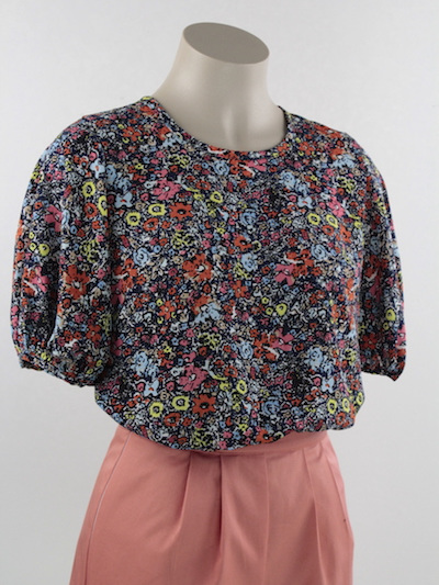scandi floral Ophelia blouse