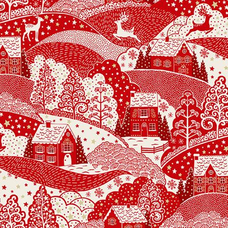 Scandi Holiday Village Red TP-2355-R