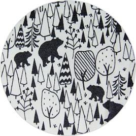 """""""Scandinavian Bears"""", 100% Cotton Knit,                                  190 gsm"""