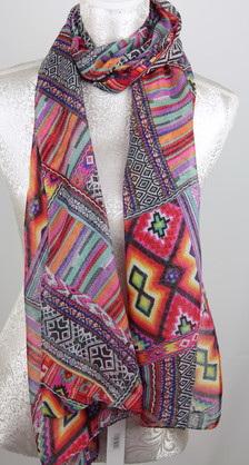 Scarf - Aztec Pattern