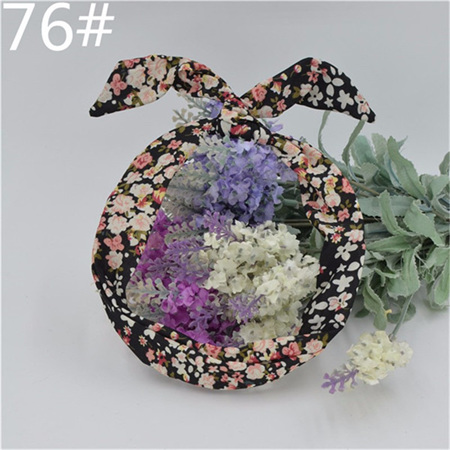 Scarf Headband - Black Floral  No. 76