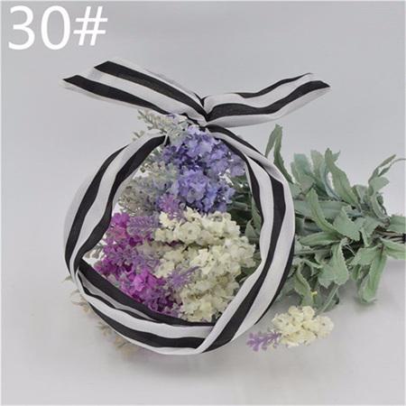 Scarf Headband - Black & White Stripe  No. 30