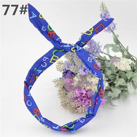Scarf Headband - BLUE ABC  No. 77