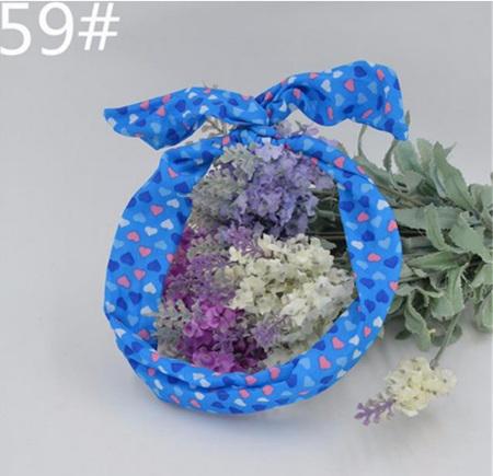 Scarf Headband *Blue & Hearts* #59