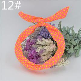 Scarf Headband - Bright Orange with Yellow Spots  No. 12
